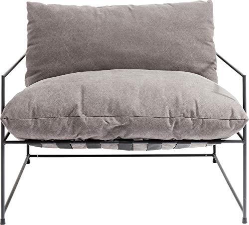 Kare Design Sessel Cornwall Big, Loveseat, großer Loungesessel, Armlehnsessel Grau, XXL Sessel, Cocktailsessel, moderner Relaxsessel, Designsessel, Sessel mit Armlehnen, (H/B/T) 63x96x87cm