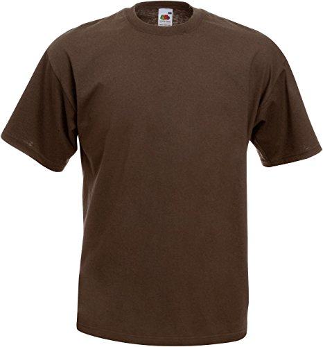 Fruit of the Loom T-Shirts 5er Pack - Original T - Full Cut - Chocolate