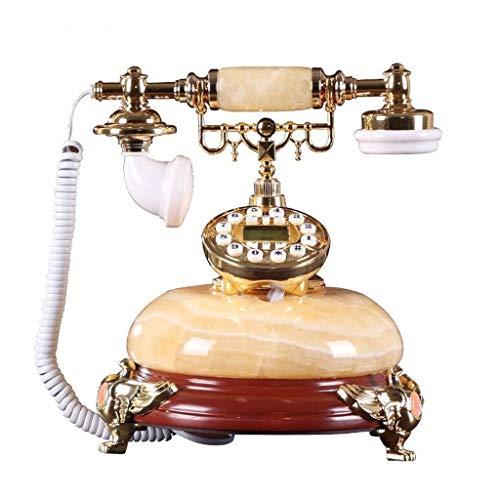 RMXMY Festnetz-Telefontelefon des europäischen antiken Telefon-natürlichen Jade-Retro- amerikanischen Weinlese-Innenministeriums