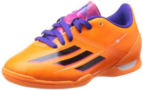 F10 IN Enfants - Chaussures de Foot en Salle Zeste Solaire/Noir/Pourpre Orange / Noir