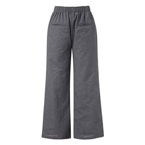 Lazzboy Hose Bein Frauen beiläufige Tasche Baumwolle und Leinen lose Weites ()