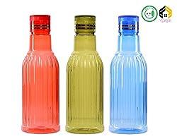 Aarushi Unbreakable Water Bottle, 1 Litre Set of 3