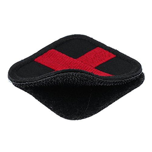 MagiDeal Outdoor Erste Hilfe Rotes Kreuz Klettverschluss Abzeichen Patch 50 x 50mm in verschiedenen Farben - Schwarz (Abzeichen Uniform Patch)