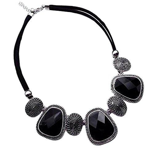 [Silber] Stilvolle Kostüm Halskette Pullover Halskette Kostüm - Kostüm Diamant Halskette