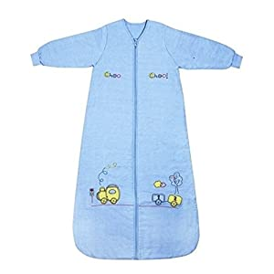 Saco de repetición Azul Invierno–Saco de dormir para bebé niño con mangas largas 3.5tog–Tren de–Disponible en varios tamaños: de 0a 10años