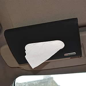 Autofurnish Car Sun Visor Tissue Holder Box with Free Tissues - Black