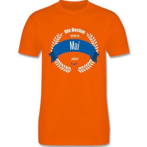 Geburtstag - Die Besten werden im Mai geboren - Herren Premium T-Shirt Orange
