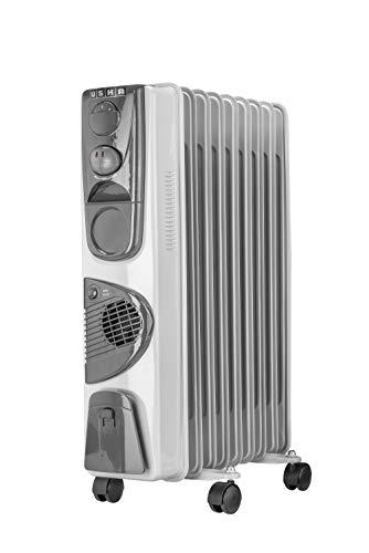 Usha 3809 F 2000-Watt Oil Filed Radiator (White)