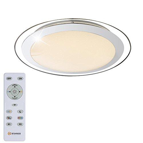 LED Decken Lampe Wohn Zimmer RGB Fernbedienung Stern Effekt Schlaf Zimmer Leuchte dimmbar Globo 48365