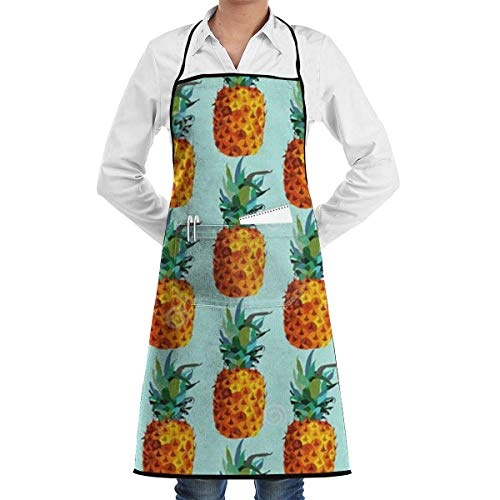 lbare Latzschürze mit Tasche, Pineapple Fruit Summer Schürze for Kitchen Cooking/BBQ, Cooking, Baking, Crafting, Gardening, BBQ ()