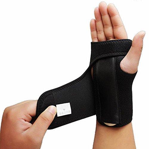 1Stück rechts oder links Hand Träger herausnehmbare Schiene Handgelenkbandage Handgelenkstütze für Karpaltunnelsyndrom, Sehnenscheidenentzündungen, Schmerzen mouse-hand-Syndrom und Sport Verletzungen, Right hand