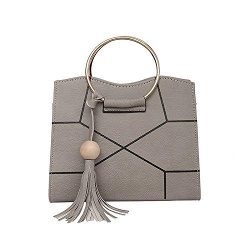 Sprnb Nuova Moda Cuciture Della Spalla Xiekua Package-Match Borsetta,Nero gray