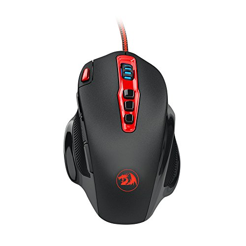 Redragon M805 Hydra 14400 DPI Programmable Gaming Mouse with Adjustable Weight Tuning,10 Programmable Buttons 41SL4F0hGTL
