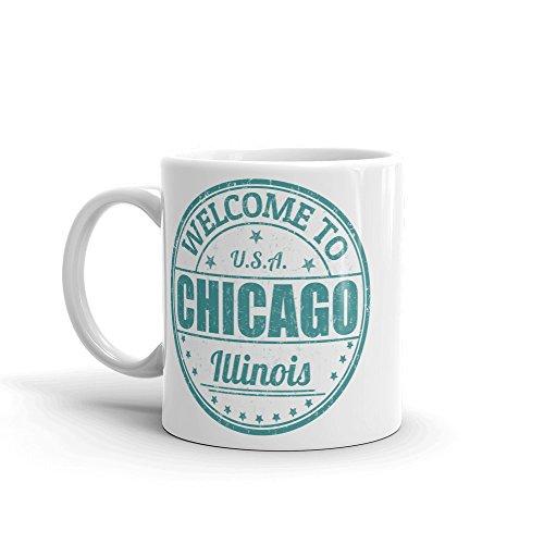 DV Mugs Ltd Chicago Illinois USA America Hochwertige Kaffeetasse 284 ml #6123