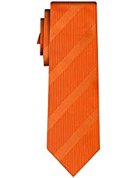 cravate rayée stripe I orange in orange