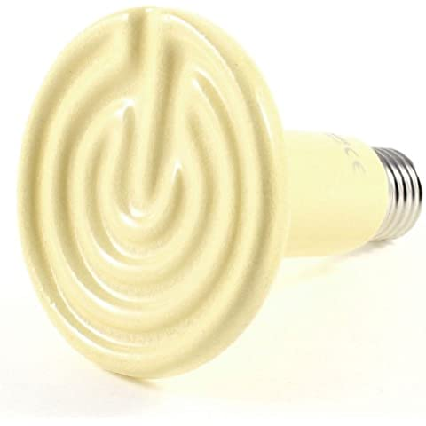 sourcingmap® Fluker Rettile Ceramica Calore Emettitore Riscaldatore Lampadina 150W AC 220-240V Beige