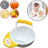 Safe-O-Kid Portable Grinding Feeding Masher/Serving Bowl for Baby Food Preparation (Yellow)