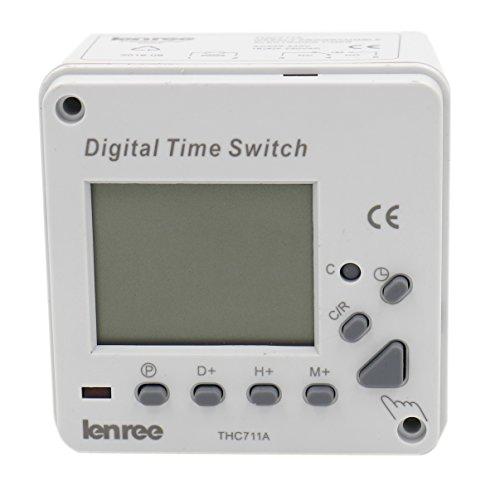 heschen Digital LCD Power Weekly Programmierbarer Elektronischer Timer Schalter Relais thc711a 220-240VAC LED-Anzeige CE -