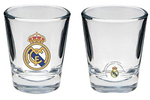 Real Madrid FC Set von 4Shot Glasses-Official Real Madrid Product-Great für Damen und Herren (Real Shot Glas)