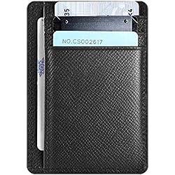 Hardwork Secret Porte Carte de Crédit Hommes, Portefeuille en Cuir, Porte-Monnaie, RFID Blocage, (Noir)