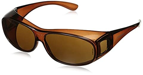 Crossfire 3115 OG3 Over the Glass Safety Glasses Brown Lens - Crystal Brown Frame by Crossfire