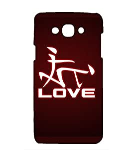 printtech Premium Latest Designer Love Printed Back Case Cover for Samsung Galaxy Grand Prime G530F, G530FZ, G530Y, G530H, G530FZ/DS / Samsung Galaxy Grand Prime Value Edition with Spreadtrum SC7730 chipset