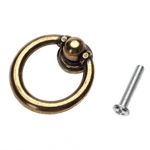 niceeshop(TM) Einziges Loch Ziehen Möbel Metallring Schubladentür Zugknopf (Blechern, Set von 10er)