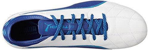 Puma Evotouch 3 Lth Ag, Scarpe da Calcio Uomo Bianco (Puma White-true Blue-blue Danube 01)