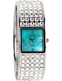 eton 2719-BL - Reloj de mujer de cuarzo, correa color plata