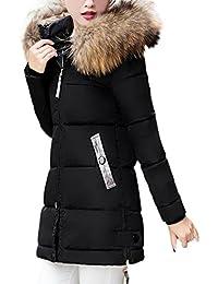 Elecenty Damen Winterjacke,Wintermantel Lange Daunenjacke Parka Jacke  Outwear Frauen Winter Warm Daunenmantel Steppjacke Mantel 053cef0aef