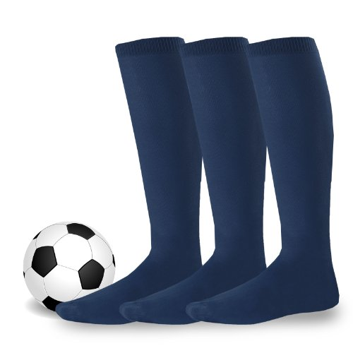 Acryl-sport-team Sock (teehee Acryl Unisex Fußball Team Sports Kissen Socken 3Pack Gr. X-Small, Navy)
