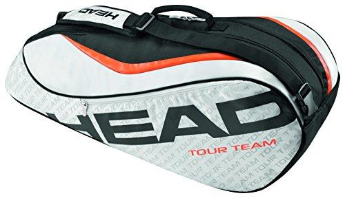 Head - Borsone per racchette Tour Team 6R Combi, unisex, Tour Team 6R Combi, argento/nero, N/A