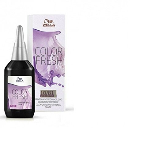 Wella Color Fresh Glanz-Tönung 10/ 81 hell-lichtblond perl-asch, 2er Pack, (2x 75 ml) (Haar-color-enhancer)