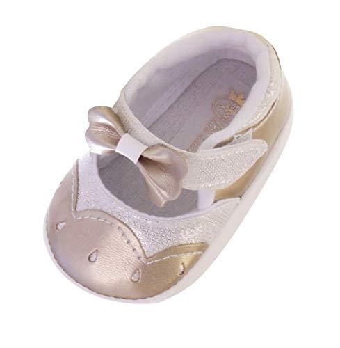 Seruna Baby-Schuhe TP37 Gr. 16 Gold-ene Ballerina-s für Babies klein-e Mädchen zu Taufe-n und Hochzeit-en - Winter Fell Rosa Stiefel