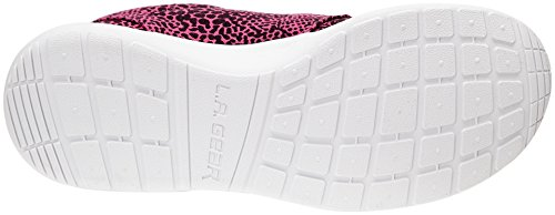 LA Gear Sunrise, Baskets mode femme Rose (Fuchsia Reptile)