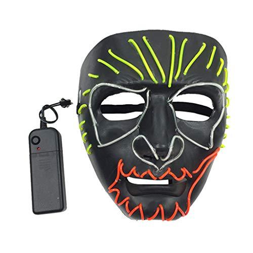 Licht Kostüm Up Männer - Balain-Halloween Party Cosplay Kostüm für Männer Frauen LED Maske Purge Draht Licht Up Masken Karneval Festival Dekoration für Männer Frauen
