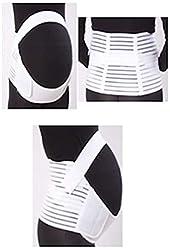Voken Schwangerschaftsgürtel Verstellbare Becken und Rückenstütze Schwangerschafts Bauchbinden (Groß Weiß)