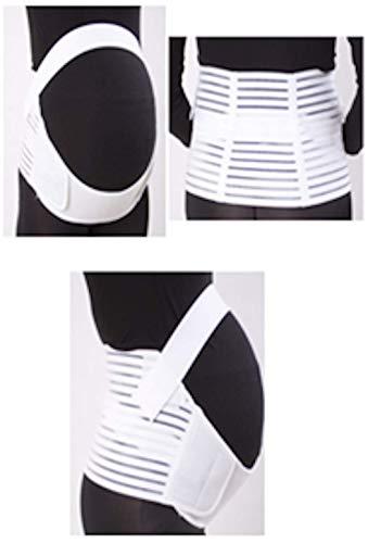 Voken Cinturón de Maternidad, Faja de Embarazo Comodidad Ajustable-Alivia Músculos Cansados, Soporte al Vientre y Espalda, Ayuda a Prevenir Prolapso (Grande Blanco)