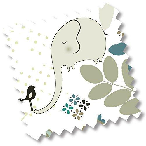 """5418 - millemarille Ersatzbezug Wickelauflage """"elegant elephant"""" I 50x70cm I Ökotex I Elefant"""