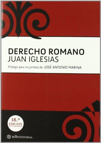 Derecho Romano 18ヲ Edicion (Derecho (sello))