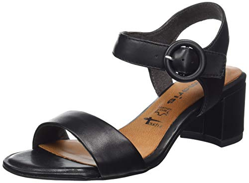 324-22 907 Peeptoe Sandalen Schwarz (Black Leather# 907), 39 EU ()