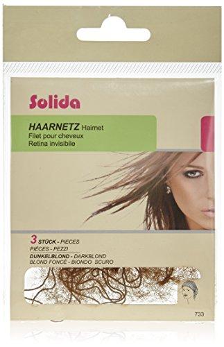 Solida Haarnetz, dunkelblond, 1er Pack, (1x 3 Stück)