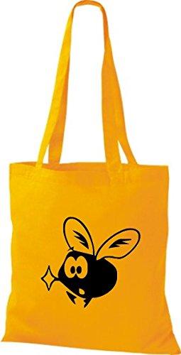 Shirtstown Stoffbeutel Tiere Fliege Mücke Goldgelb