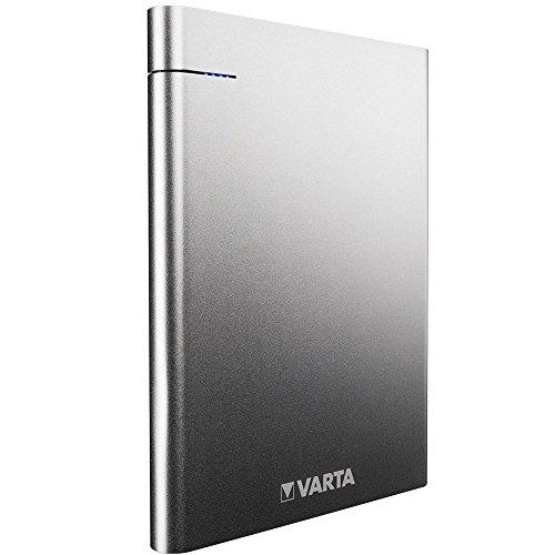 Varta Slim Power Bank (18000 mAh, Externer Li-Polymer Akku, mit 2 USB Ausgängen USB Typ C 5V/3.0, USB 5V/2.4A, geeignet für Apple, Samsung, Huawai und weitere Geräte - inkl. 50 cm Micro USB Kabel)
