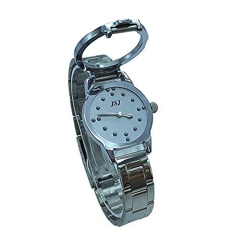 Blindenuhr Taktile Armbanduhr für Sehbehinderte,Blinde oder ältere Menschen Graues Zifferblatt (für Damen