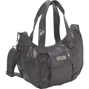 Ju-Ju-Be Behave Earth Leather Diaper Bag (Steel/ Lilac)