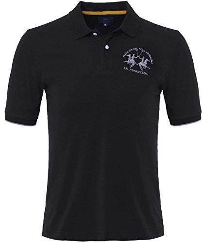 la-martina-plain-polo-shirt-l-nero
