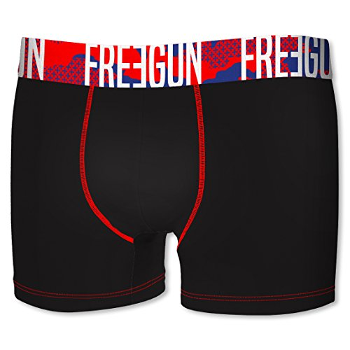 Freegun Herren Panties Boxer, 4er Pack Multicolore (Multicolor-K4D1)