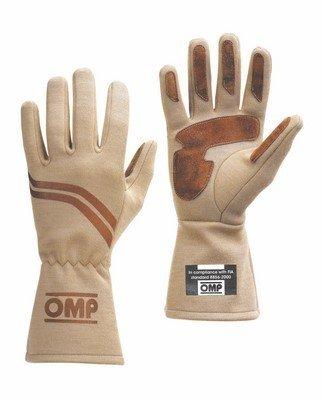 Gloves Omp Dijon: Vintage Design Cream with Marron Suede Inserts Size: M