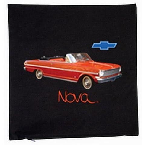 Kissen mit Innenkissen - 1963 Chevrolet Chevy II Nova Convertible - Chevy US-Car Freaks Geschenk - mit 40x40cm - in schwarz : )